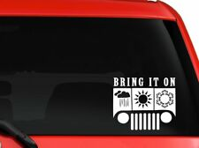 """Jeep Bring it on funny quote car truck SUV mac book laptop decal sticker 6"""""""