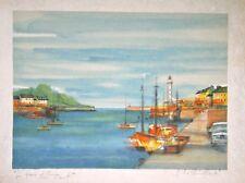 CHIMKEVITCH Sacha- Lithographie originale signée- Le port Normand