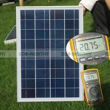 25 Watt Poly Solar Panel 12V Solar Module for RV Boat Camping Battery Charge