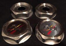 Racing Hart EVO Wheels Custom Wheel Hex Nut Center JDM Set Of 4 Caps