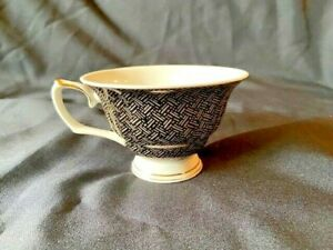 Footed Cup Weave Black and Gold by GRACE'S TEAWARE