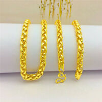 Men's lantern Chain 22K 23K 24K Thai Baht Gold Filled Yellow GP Necklace
