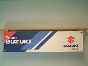 Suzuki Team Racing Motorcycle Race Workshop Garage Banner pvc Sign