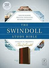 The Swindoll Study Bible NLT, Tutone (Leather / Fine Binding)