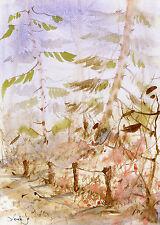 watercolor painting aquarelle original Picture638(30x21)cm PL Landschaft