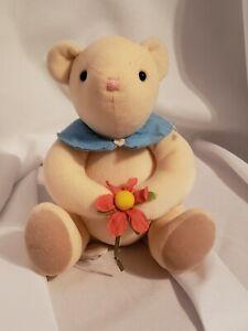 """Hallmark Plush Stuffed Animal Pitter Patter Bear Flower 7"""" retired"""