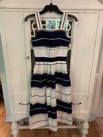Womens Vintage Lanz Dress. Size 5/6. Blue/white.
