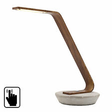 NEW Mercator Lighting Harrison 5w LED Touch Dimmable Desk Lamp Concrete Timber