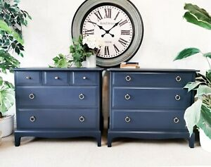 His and hers Dark Stag Minstrel drawers (pair)  - oversized bedsides