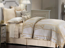 Jennifer Lopez CHATEAU Comforter Set - 4 pcs CHAMPAGNE GOLD Gray Jacquard QUEEN
