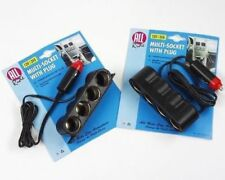 In Car 4 Way 12V Splitter - Run Up To 4 Devices From 1 Socket - LED Indicator