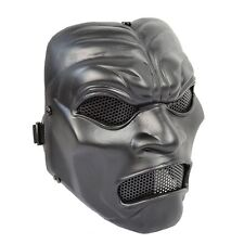 NEW Black Airsoft CS Paintball Wire Mesh Protection Sparta 300 Warrior Mask PROP