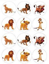 Lion King Simba Edible Cupcake Toppers 2 Choices