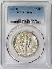 1946-D Walking Liberty Half Dollar 50C MS 66+ Plus PCGS