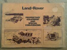 Land Rover Serie propietarios de equipos y especial conversiones catálogo.