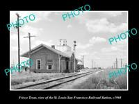 OLD LARGE HISTORIC PHOTO OF FRISCO TEXAS, THE RAILROAD DEPOT STATION 1960