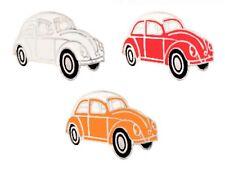 VW Typ 1 Käfer Anstecker Set 3 - Clementine, Rot & Weiß