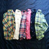Mens Polo Ralph Lauren Long Sleeve Custom Fit Buttondown Linen Shirt S M L XL
