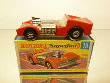 MATCHBOX SUPERFAST 19 ROAD DRAGSTER #8 - RED - VERY GOOD IN BOX