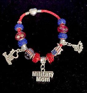 Military Inspired European Styled Bracelet- MILITARY MOM