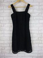 SEVENTH Dress Sz 8 Black Laser Cut Out