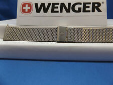 Wenger Watch Band 22MM Steel Thick Mesh Bracelet. Urban Classic.Clip Logo Buckle