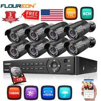 1080P HDMI 8CH / 4CH DVR IR CUT CCTV Security Camera 3000TVL System