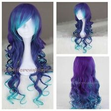 new Long Curly multi color synthetic Cosplay costume wigs anime lolita wig wigs