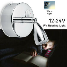 12V Dimming LED Spot Reading Light Touch Wall Lamp Van Camper Trailer RV Caravan