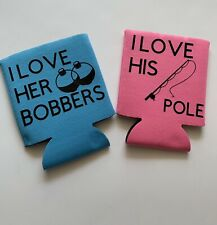 Fishing Can Coolers Set For Couples Pole Bobbers