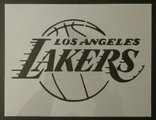 "LA Los Angeles Lakers Basketball 11"" x 8.5"" Custom Stencil FAST FREE SHIPPING"