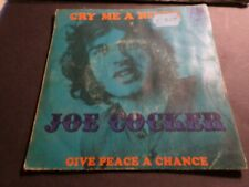 JOE COCKER, DISQUE VINTAGE VINYLE 45 TOURS, CRY ME A RIVER SINGLE, VINYL RECORD