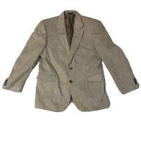 Men's Circle S Dallas Texas Silk Western Blazer Size 42R Tan Jacket Coat Cowboy