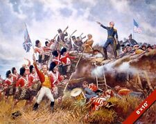 ANDREW JACKSON AT BATTLE OF NEW ORLEANS 1812 WAR PAINTING ART REAL CANVAS PRINT