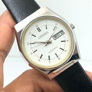 Vintage Men's Citizen 8200 Day Date 35mm Automatic 21-Jewels Wrist Watch B2785