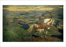 More details for roerich - ilya muromets horse mountain fine art print wall art various sizes