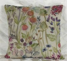 "Voyage Hedgerow Cushion Cover 16""x16"" Watercolour Linen"