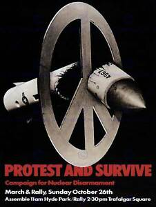 ADVERT CHARITY CND NUCLEAR MISSILE PEACE UK CAMPAIGN POSTER PRINT BB2890B