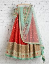Lehenga Lengha Choli Chunri Saree Sari Attractive Ghagra Maxi New Net Silk New