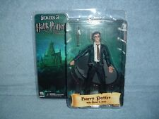 """HARRY POTTER with Wand and Base in Tie Order Phoenix 7"""" Series 2 NECA 2007 MISP"""