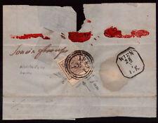 LV13 - LOMBARDO VENETO - Sassone # 21 - lettera da Adria a Vienna - 1.a scelta