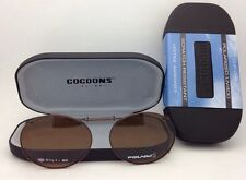 COCOONS Amber Polarized Sunglasses/Eyeglasses Over Rx Clip-on OVL 1-50 Bronze