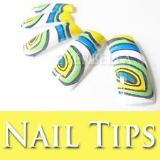 70 PCS Pre-Design Artificial French Acrylic False Half nail tips 54212-20