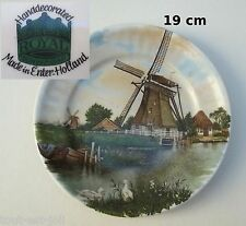 assiette murale Royal Schwabap de collection 19 cm, Hollande décor main  **T3