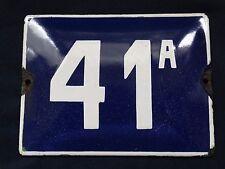 VINTAGE ENAMEL PORCELAIN TIN SIGN PLATE ADDRESS NUMBER 41а rare sign .( No.Б11 )