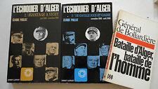 ALGERIE PAILLAT Claude. L'échiquier d'Alger.1/ Avantage à Vichy. juin 1940-novem