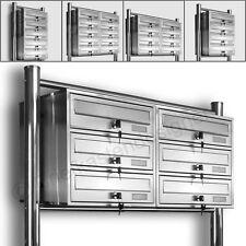Kelvin® Standbriefkasten - Edelstahl Briefkasten Standanlage Mailbox