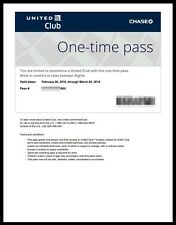UNITED CLUB PASS- (One) 1 Pass, Expire Mar 5 2019, Electronic PDF Delivery