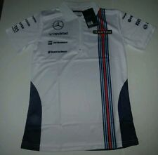 Williams Martini Mercedes Racing Womens Team Replica 1/4 Zip Polo Shirt NWT XL