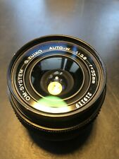 Olympus OM 35mm lens F2.8 manual focus for OM1/2/3/4 and OM10 Prime Auto-w